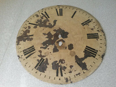 ANTIQUE CLOCK DIAL - HAND PAINTED - 12 inches diameter