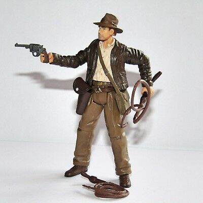 "Indiana Jones Movie  (Harrison Ford)  3.75"" Toy Figure with 2 Whips & Weapon"