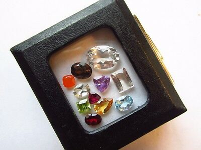 Natural Mixed Faceted Loose Gemstone Parcel Lot Rutilated Kunzite Fire Opal
