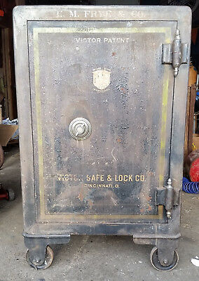 Large ANTIQUE VICTOR SAFE & LOCK Co. 4 Number Combination Works,Cincinnati,OH