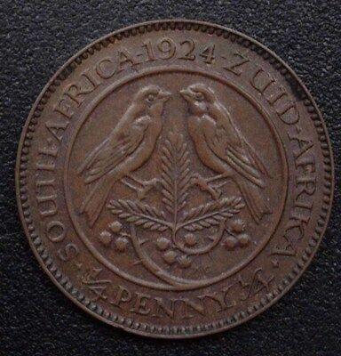 South Africa 1924 1/4 Penny  Km#12.1  Nearly Uncirculated