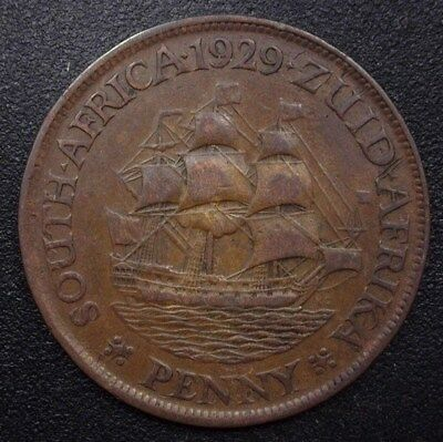 South Africa 1929 Penny  Km#14.2  Extremely Fine