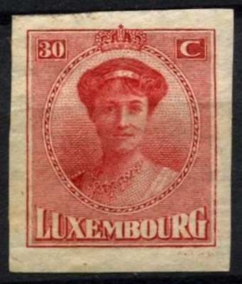 Luxembourg 1922 SG#220, 30c Carmine Imperf MH #D63788