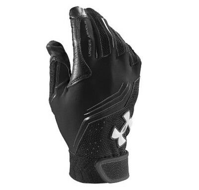under armour boys youth baseball clean up v batting gloves heatgear black large
