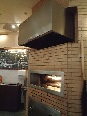 Wood Stove Commercial Gas Fired Pizza Bread Oven and Hood