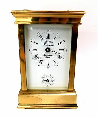 Vintage L'EPEE Miniature Brass Carriage Clock 12cm Working  - S38