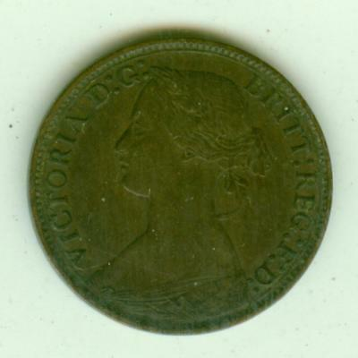 British 1873 Farthing-Lot D3