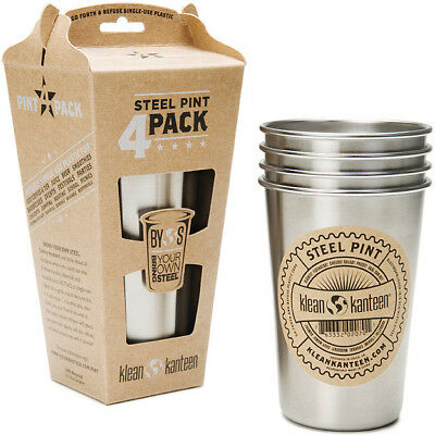 Klean Kanteen 16 oz. Brushed Stainless Pint Cups (4 Pack)