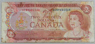 1972 Canada $2 Two Dollars Note Bank Of Canada