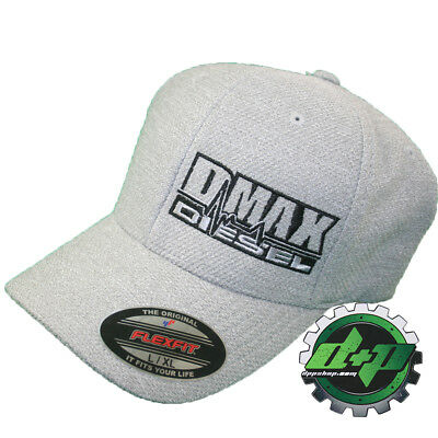 L XL DMAX Diesel Flexfit fitted flex fit trucker ball cap hat Chevy Duramax  gray 27fcbd01099b