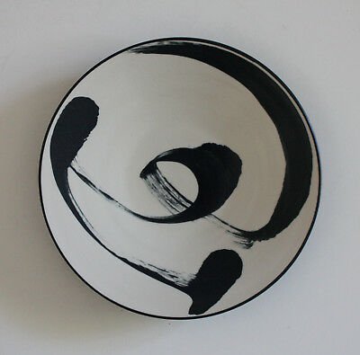 Vintage ANN MALLORY Abstract Charger Plate Platter Mid-Century Modern California