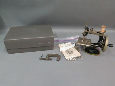 Antique Singer Sewing Machine No. 20 Child's Practice Toy w/ Clamp Instructions