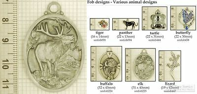 Assorted animal-themed decorative fobs, various designs & watch chain options