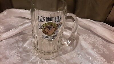"1995 TAZ TASMANIAN DEVIL ""TAZ'S ROOT BEER SERIOUS SUDS Treat Yourself"" 5.5"" Mug"