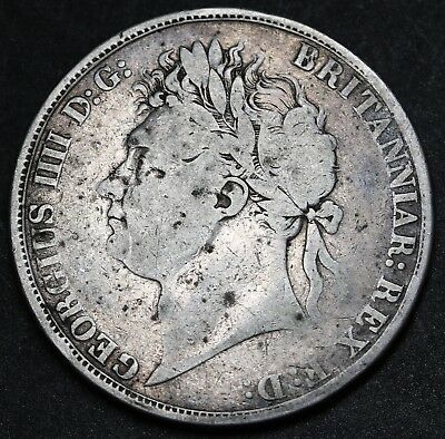 1822 Tertio UK Great Britain Crown KM# 680.2 Sterling Silver George IV Coin Rare