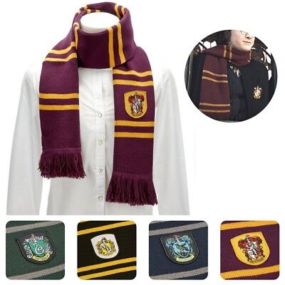 Harry Potter Schal Griffindor Slytherin Ravenclaw Hufflepuff Geschenk Cosplay