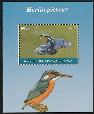 Central African Rep 6829 - 2016 KINGFISHERS  perf s/sheet  unmounted mint