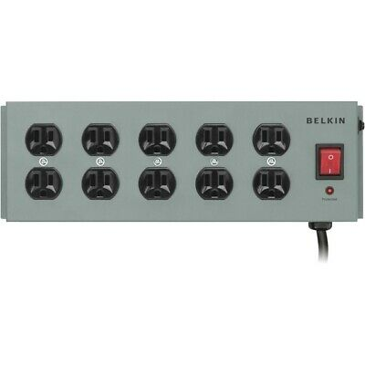 Belkin SurgeMaster 10-Outlets Metal Power Strip Surge Protector Suppressor