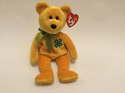 TY Beanie Baby - 4-H the Bear (8.5 inch) - MWMTs Stuffed Animal Toy