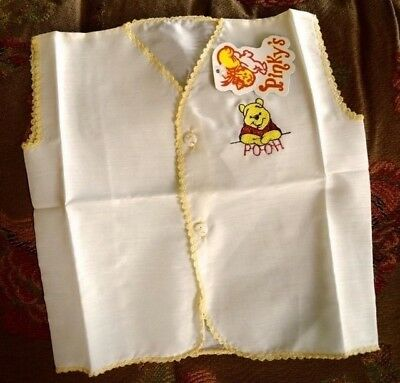 """Cute Vintage Style Winnie the Pooh Baby Shirt with tag """"Pinky's""""  7163"""