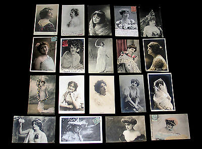 Lot C58 : 19 Cpa Miss Artiste Theatre Pin-Up Danse Spectacle Opera Music-Hall