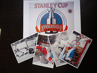 Lot 5 Nhl  Hockey Photo Color  Finish Clear Glossy Ken Dryden Golaie Lot2