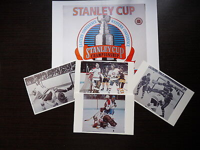Lot 5 Nhl  Hockey Photo Color  Finish Clear Glossy Ken Dryden Golaie Lot4
