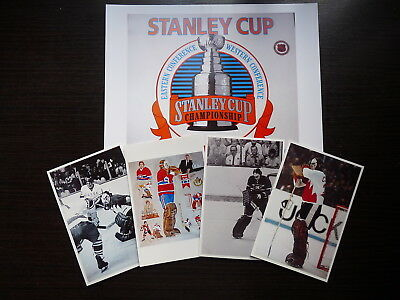Lot 5 Nhl  Hockey Photo Color  Finish Clear Glossy Ken Dryden Golaie Lot5