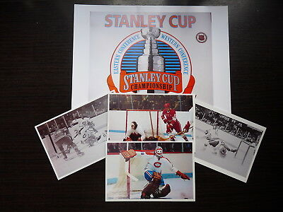 Lot 5 Nhl  Hockey Photo Color  Finish Clear Glossy Ken Dryden Golaie Lot7