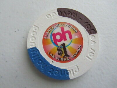 $1 PLANET HOLLYWOOD PH Las Vegas NV Hotel & Casino Gaming Chip + FREE Poker chip