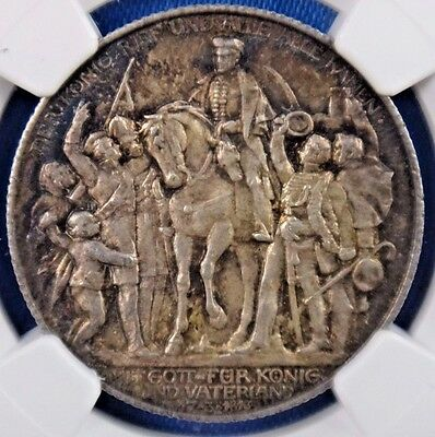 1913A Germany 2 Mark Prussia Napoleon Defeat NGC MS64