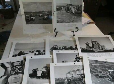 "Ten (10) CASE tractor Promotion Photographs 8 1/2"" X 11"" 94 series international"