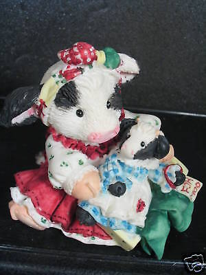 Mary's Moo Moos I'LL CHERISH YOU FOR HEIFER Cow w/ Doll