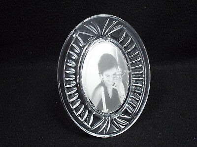 "Waterford Crystal Small Oval Picture Frame, 2"" x 3"" Photo"