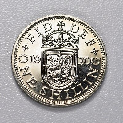 GB SHILLING - LAST YEAR MINTED 1970 S  ++ PROOF - FREE S&H! ++[fsh]