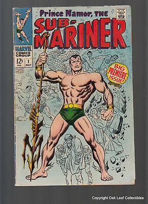 Sub Mariner 1 Marvel Comic Book 1968 VG FREE Shipping