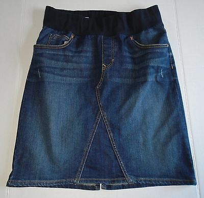 Gap 1969 Womens Maternity Denim Jean Skirt Size 28 / 6 Knee Length Dark Stretch