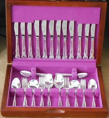 Canteen Arthur Price Ashleigh Pattern - Vintage - Silver Plated Cutlery Epns