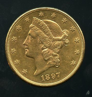 1897-S United States Gold Liberty Head Double Eagle $20 Coin JE759