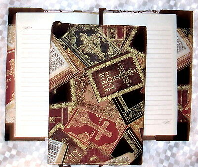 Handcrafted Book Cover & Journal - Religious Print - Take Notes In Style