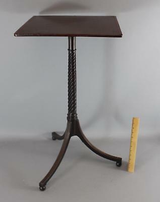 Antique Early 19thC English Regency Inlaid Mahogany Candle Stand Table, NR