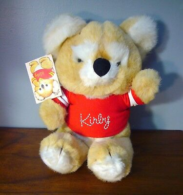 Rare New OS 1984 Gibson Greeting Cards KIRBY KOALA Bear Plush Toy stuffed animal