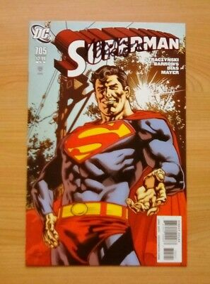 Dc - Superman #705 - 1:10 Variant Cover Signed By Cover Artist Yanick Paquette