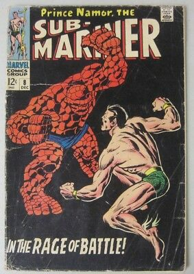Sub-Mariner #8 Marvel Comics 1968 Classic Submariner Vs. The Thing Battle Issue