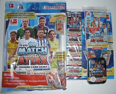 Topps Match Attax 2017/2018 - Starterpack + Multipack + Blister + Mini Tin
