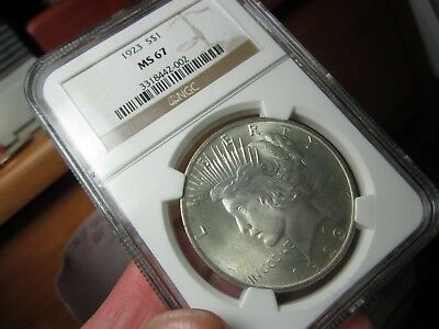 Registry Peace Dollar  1923-P  Ngc Ms-67 None Better At Ngc    An Unreal Gem