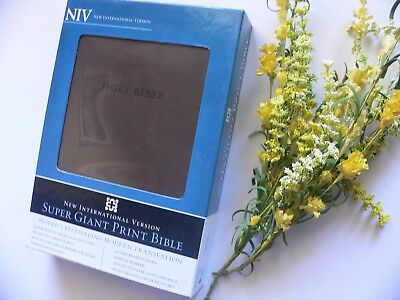 NIV Super Giant Print BIBLE 16.5 Point Text ~ NEW