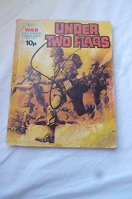 Vintage UK War Picture Library Pocket Comic 1970s No1205  UNDER TWO FLAGS