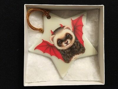 Ferret ware (Ann Hatchett-Sprague) DEVIL FERRET Star Ornament