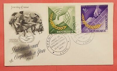 1965 Imperf Togo International Cooperation Year Issues Fdc